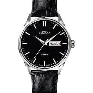 381103ss Mens Black Sultan Watch