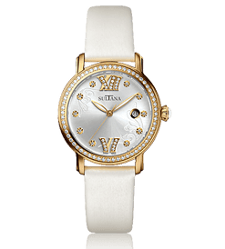 385202 Ladies White & Gold Sultana Watch