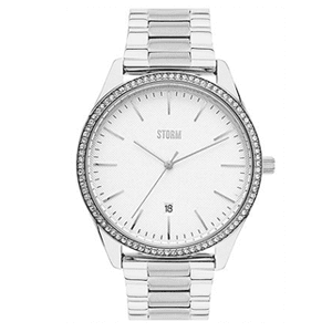 Mens Storm Crystalix Silver Watch