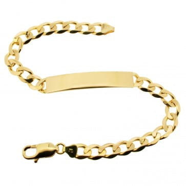 18k Yellow Gold Id Bracelet
