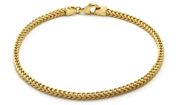 10k Yellow Gold Franco Bracelet